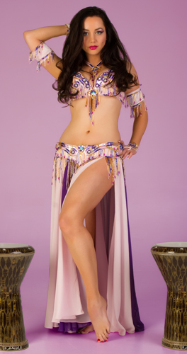 pink purple gold Bella belly dance bellydance costume