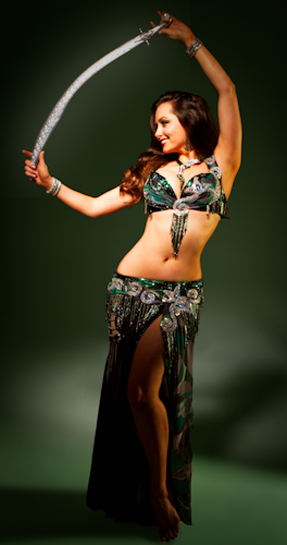 black green silver bella belly dance bellydance costume