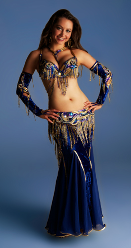 blue purple gold Bella belly dance bellydance costume