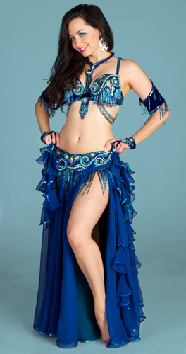 blue turquoise Bella belly dance bellydance costume