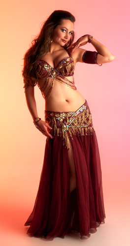 burgundy gold bella belly dance bellydance costume