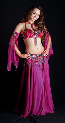 fuchsia teal burgundy bella belly dance bellydance costume