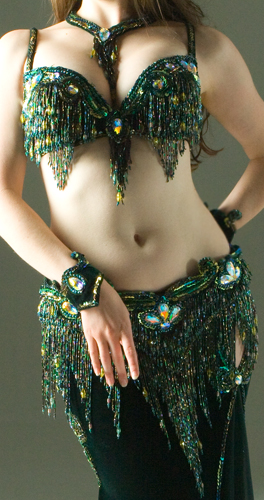 green Bella belly dance bellydance costume