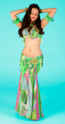 green spring flowers Bella belly dance bellydance costume