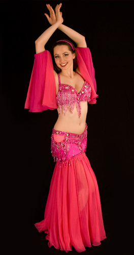 hot pink bella belly dance bellydance costume