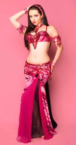 magenta purple swirl metallic Bella belly dance bellydance costume