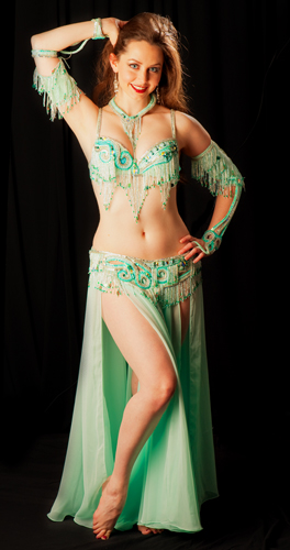 mint green Bella belly dance bellydance costume