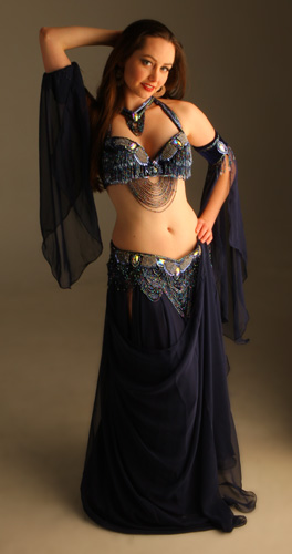 navy blue Bella belly dance bellydance costume