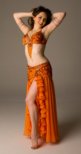 orange brown Bella belly dance bellydance costume