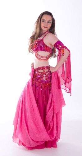 pink red bella belly dance bellydance costume