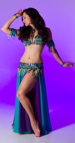 green seafoam purple Bella belly dance bellydance costume