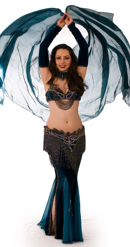 teal sim belly dance bellydance costume