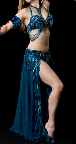 teal tribaret Bella belly dance bellydance costume