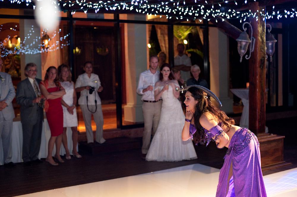 Lara dances at a wedding in Mexico